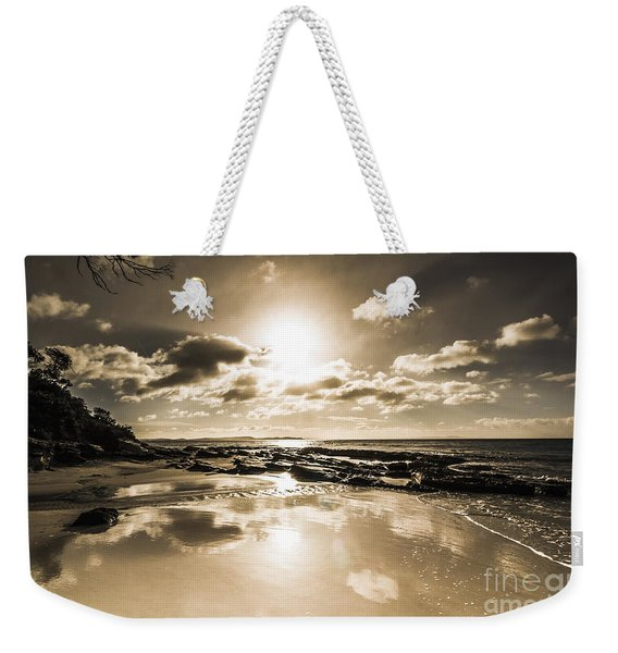 Sun Sand And Sea Reflection Weekender Tote Bag