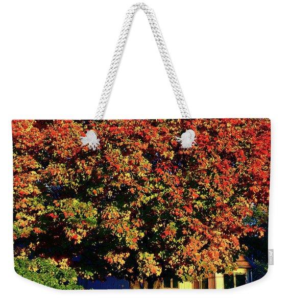 Sun-shining Autumn Weekender Tote Bag