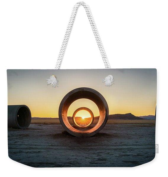 Sun Tunnel Solstice Weekender Tote Bag