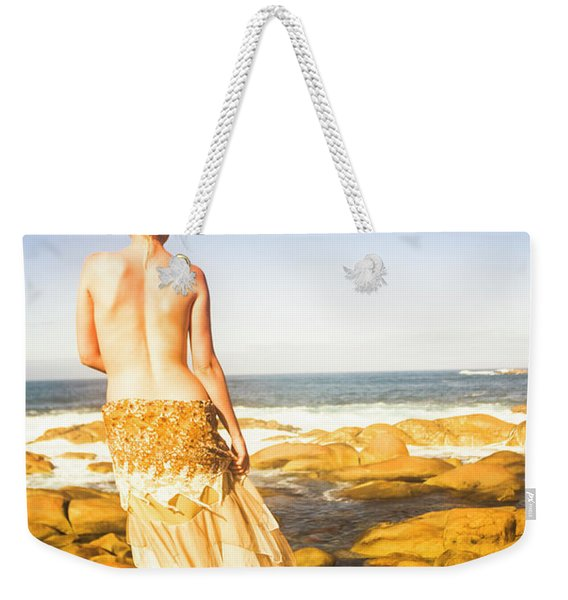 Sunbathing By The Sea Weekender Tote Bag