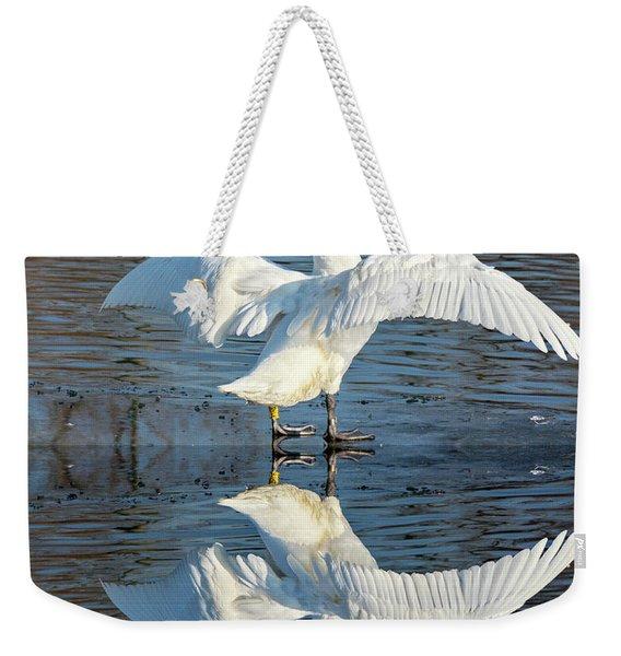 Sunbathing Swans Weekender Tote Bag
