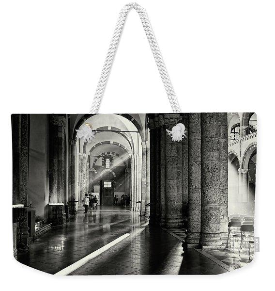 Sunbeam Inside The Church Weekender Tote Bag
