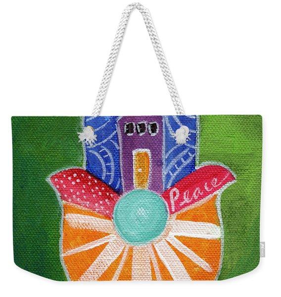 Sunburst Hamsa Weekender Tote Bag