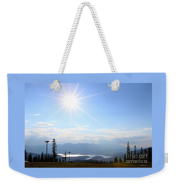 Sunburst Over Lake Dillon Weekender Tote Bag