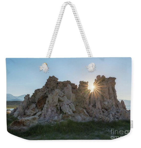 Sunburst Through Tufa  Weekender Tote Bag