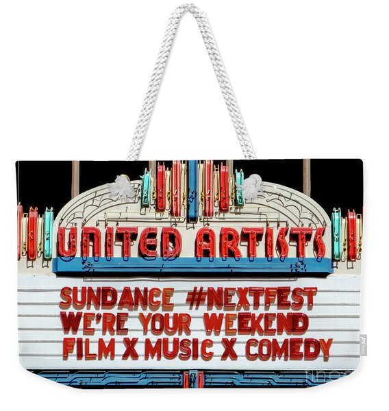 Sundance Next Fest Theatre Sign 1 Weekender Tote Bag