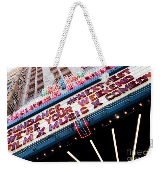 Sundance Next Fest Theatre Sign 3 Weekender Tote Bag