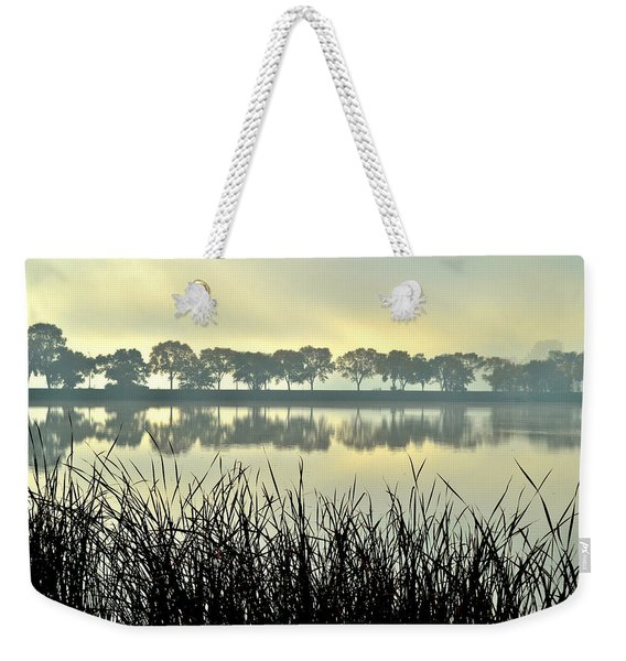 Fog At Sunrise Weekender Tote Bag