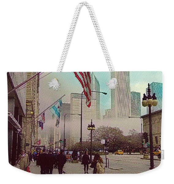 Sunday In The City Weekender Tote Bag