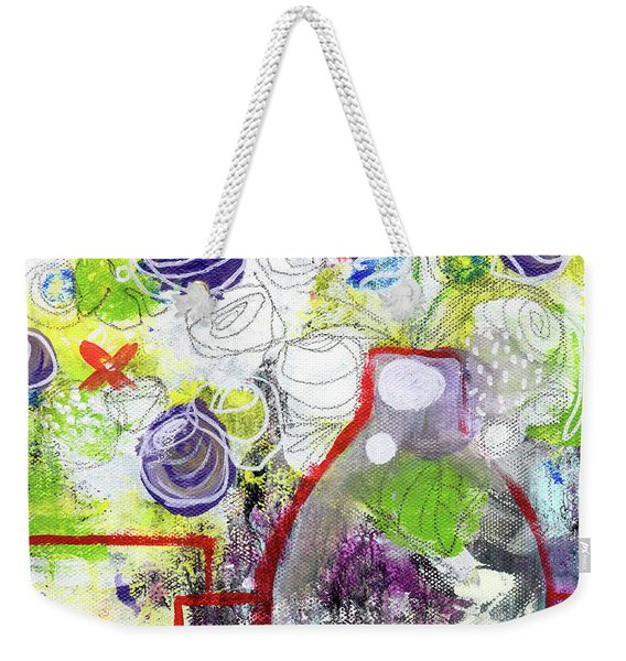 Sunday Market Flowers 3- Art By Linda Woods Weekender Tote Bag