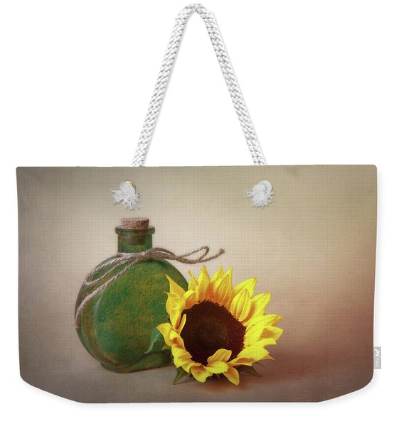 Sunflower And Green Glass Still Life Weekender Tote Bag