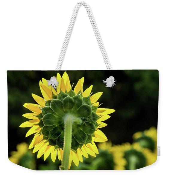 Sunflower Back Weekender Tote Bag