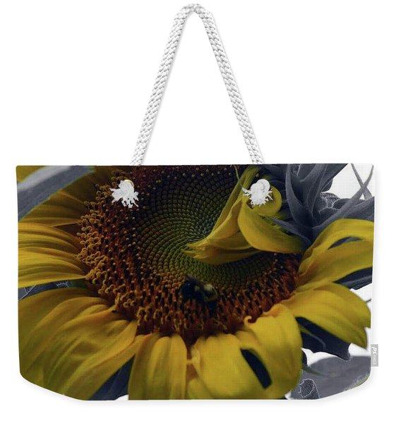 Sunflower Bee Weekender Tote Bag