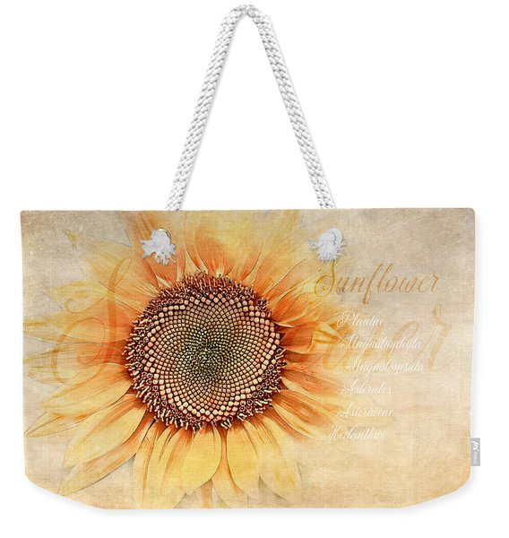 Sunflower Classification Weekender Tote Bag