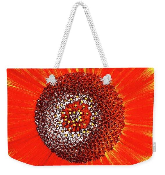 Sunflower Close Weekender Tote Bag