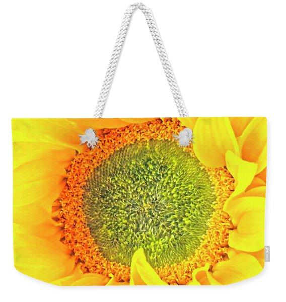 Sunflower Hdr Weekender Tote Bag