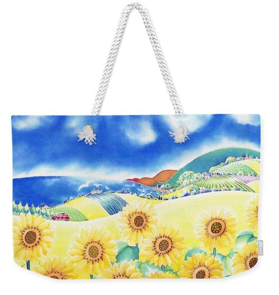 Sunflower Hills Weekender Tote Bag