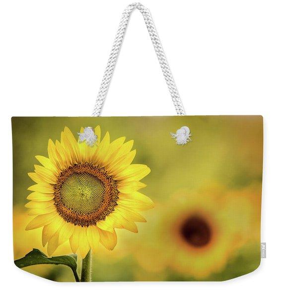 Sunflower In A Field Weekender Tote Bag