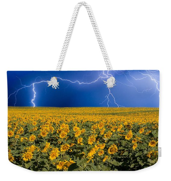Sunflower Lightning Field  Weekender Tote Bag