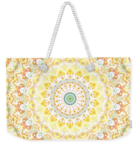 Sunflower Mandala- Abstract Art By Linda Woods Weekender Tote Bag
