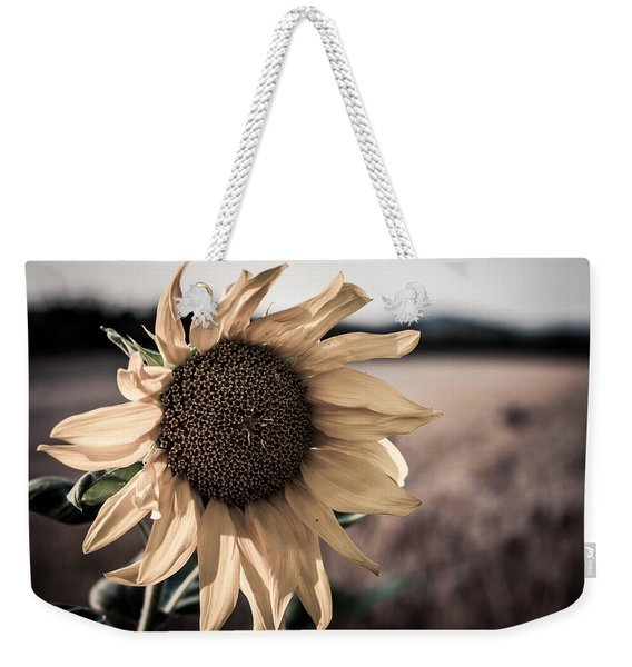 Sunflower Solitude Weekender Tote Bag