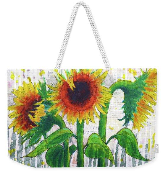 Sunflower Sonata Weekender Tote Bag