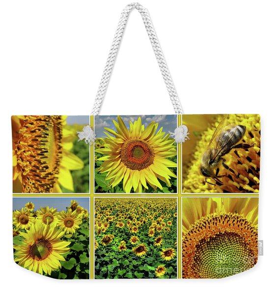 Sunflower Story - Collage Weekender Tote Bag