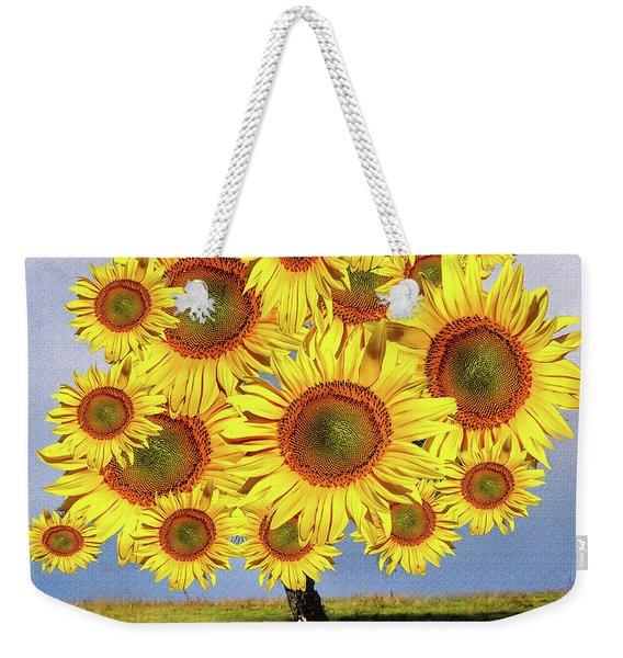 Sunflower Tree Weekender Tote Bag