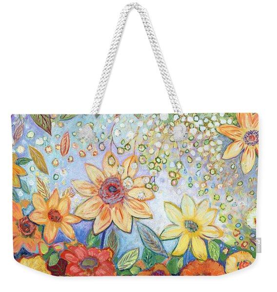 Sunflower Tropics Weekender Tote Bag
