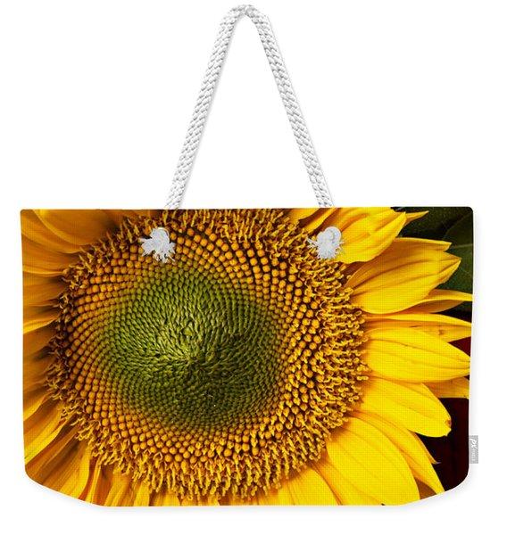 Sunflower With Old Key Weekender Tote Bag