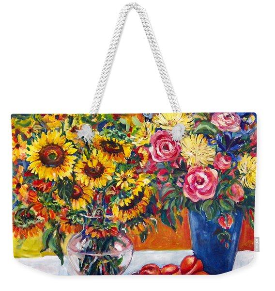 Sunflowers And Plums Weekender Tote Bag