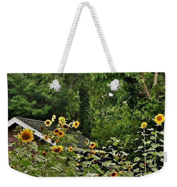 Sunflowers At The Good Earth Market Weekender Tote Bag