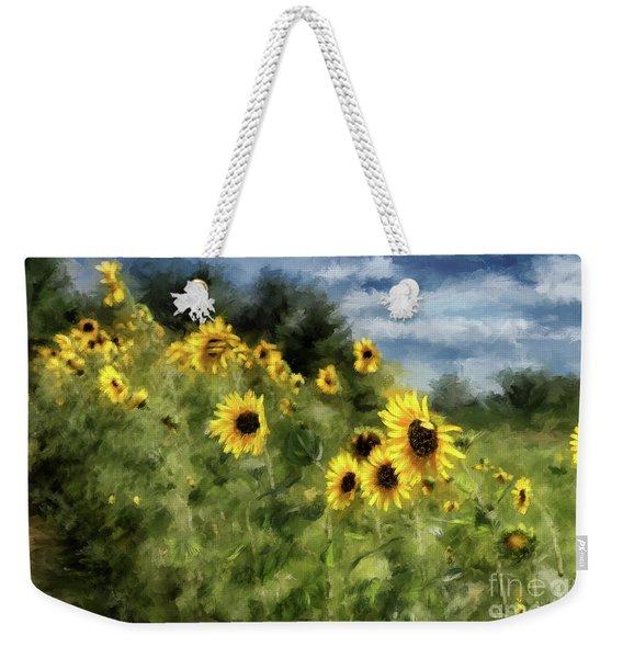 Sunflowers Bowing And Waving Weekender Tote Bag