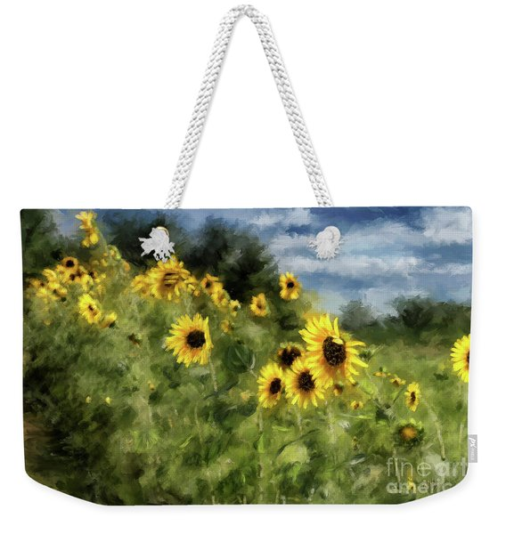 Sunflowers Bowing And Waving Weekender Tote Bag