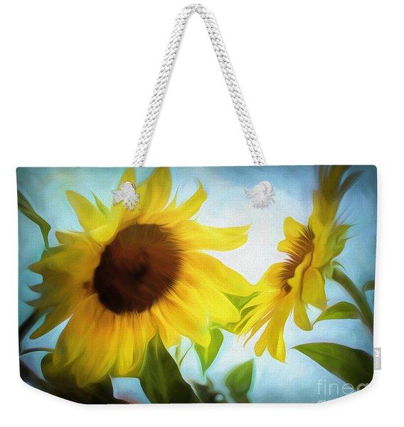 Sunflowers Duet Weekender Tote Bag