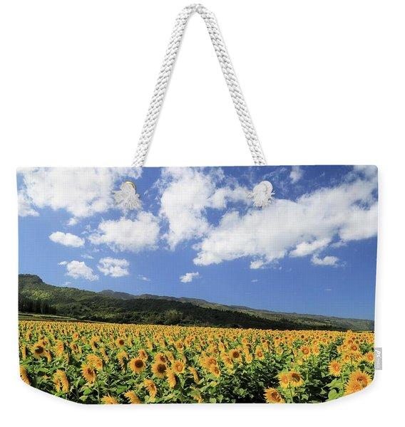 Sunflowers In Waialua Weekender Tote Bag