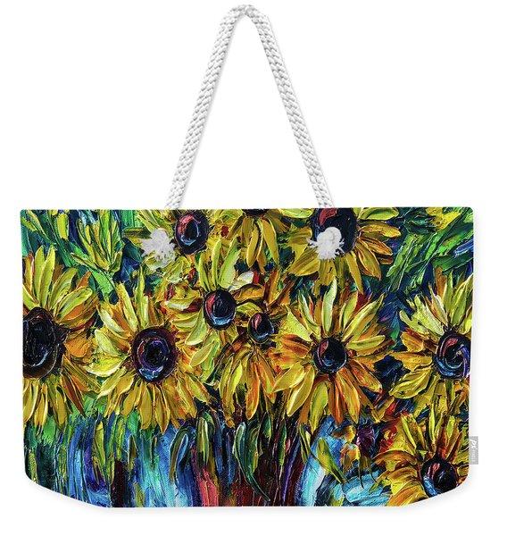 Sunflowers  Palette Knife Weekender Tote Bag