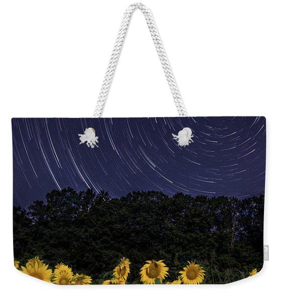 Sunflowers Under The Night Sky Weekender Tote Bag