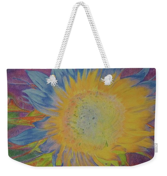 Weekender Tote Bag featuring the pastel Sunglow by Cris Fulton