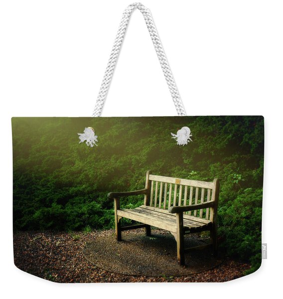 Sunlight On Park Bench Weekender Tote Bag