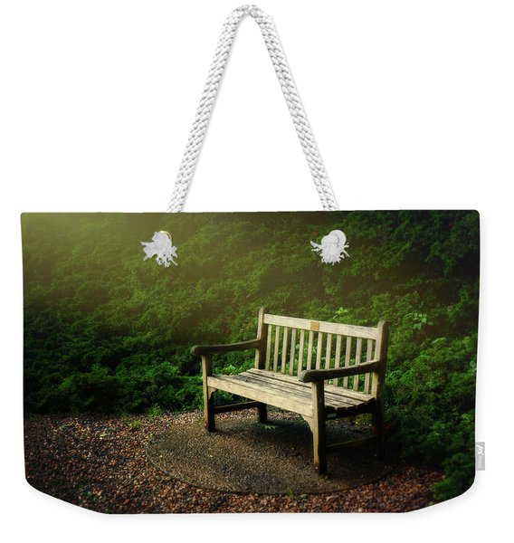 Sunlight On Park Bench Weekender Tote Bag