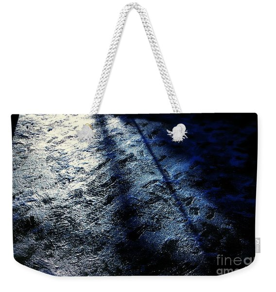 Sunlight Shadows On Ice - Abstract Weekender Tote Bag