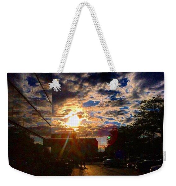 Sunlit Cloud Reflection Weekender Tote Bag