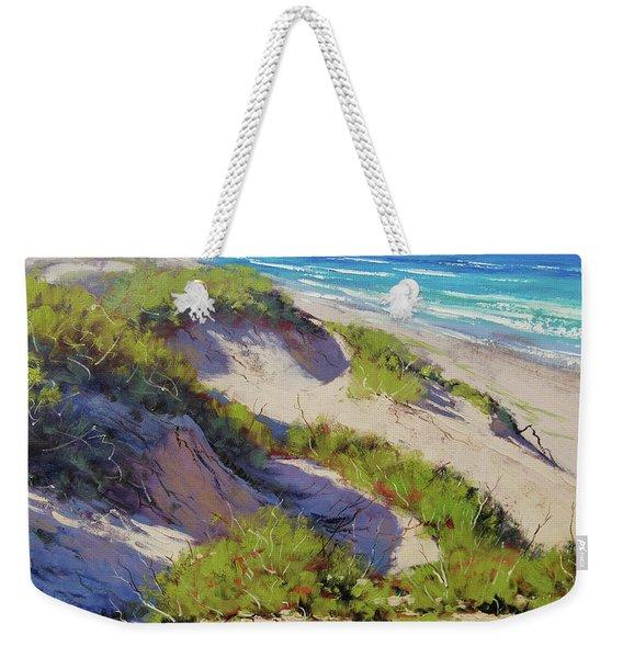 Sunlit Dunes Norah Head  Nsw Australia Weekender Tote Bag