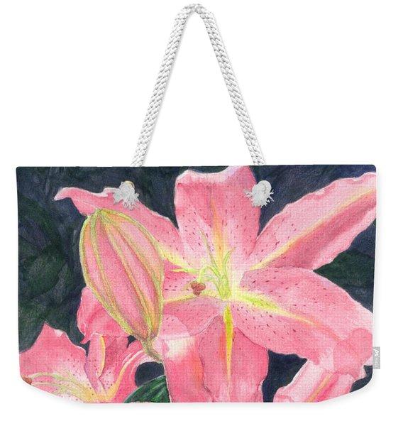 Sunlit Lilies Weekender Tote Bag