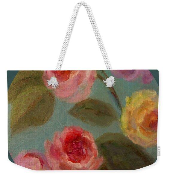 Sunlit Roses Weekender Tote Bag