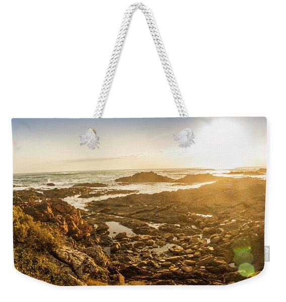 Sunlit Seaside Weekender Tote Bag