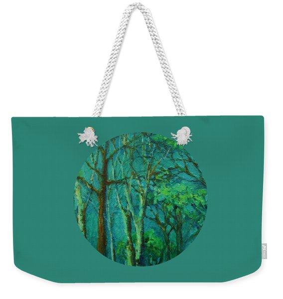 Sunlit Woodland Path Weekender Tote Bag