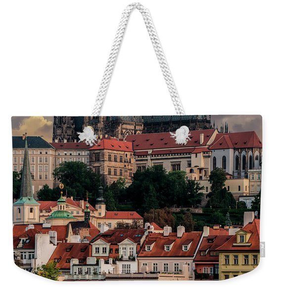 Weekender Tote Bag featuring the photograph Sunny Afternoon In Prague by Jaroslaw Blaminsky