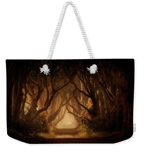 Weekender Tote Bag featuring the photograph Sunny Morning In Dark Hedges by Jaroslaw Blaminsky